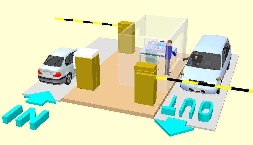 半自動駐車場システム