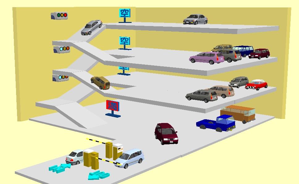 駐車場車路管制システム